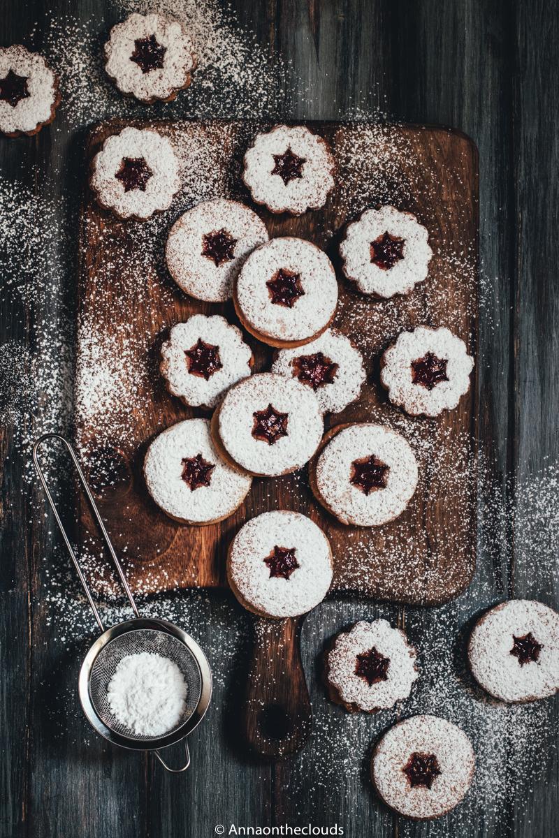Linzer cookies: ricetta biscotti austriaci