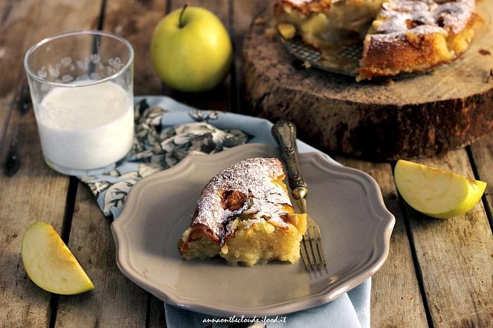 Torta di mele light senza uova, latte e burro
