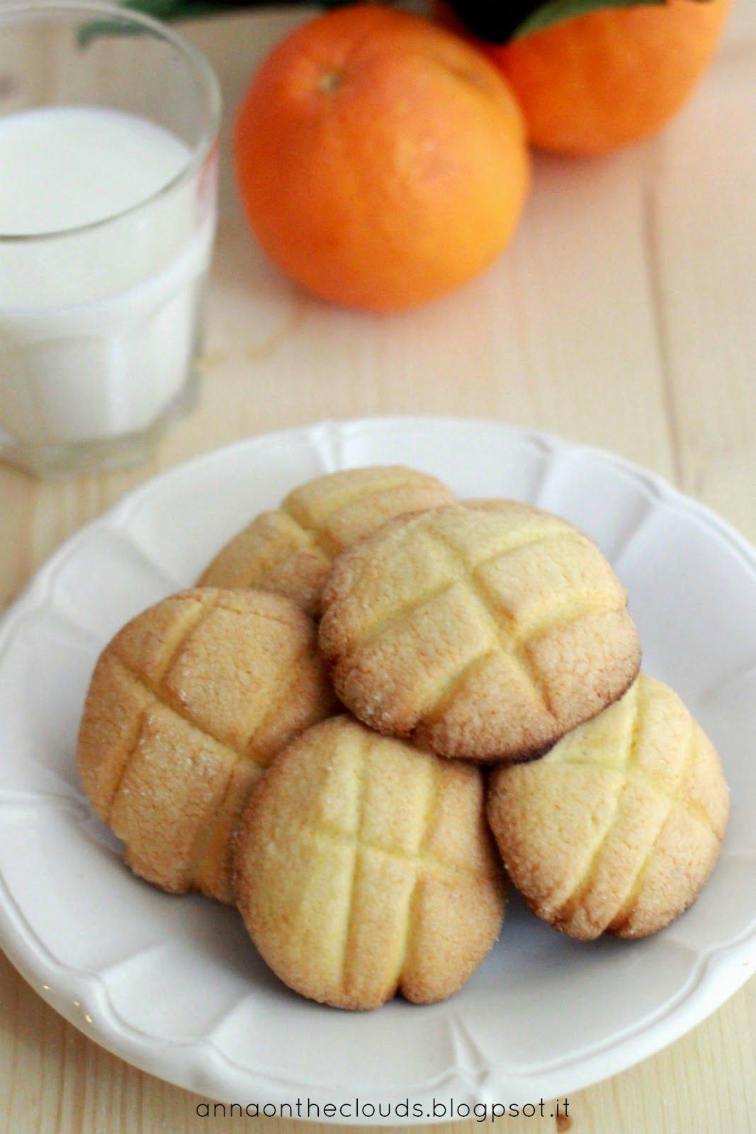 Biscotti al burro al profumo di arancia