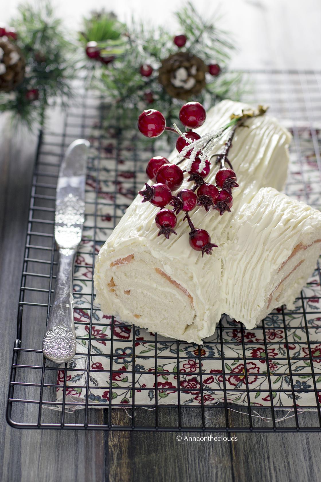 Tronchetto di natale salato (salmone e formaggio)