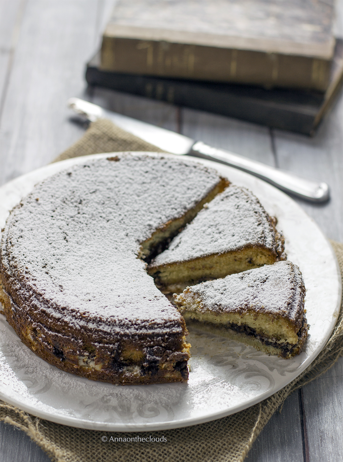 Torta versata alla ricotta e cioccolato (ricetta facile)