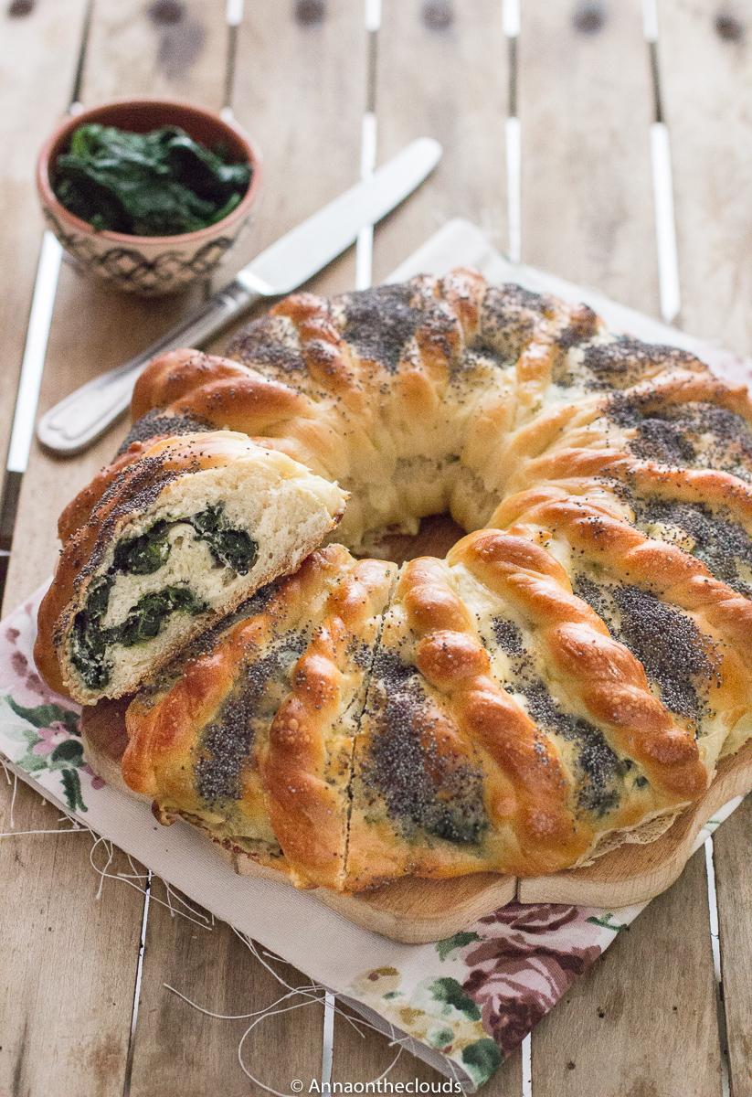 Girella di pan brioche salata