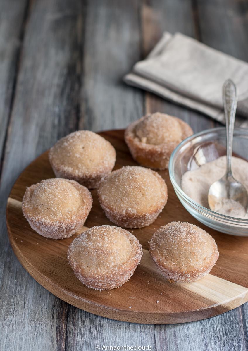 Muffin donuts alla cannella RICETTA VELOCE