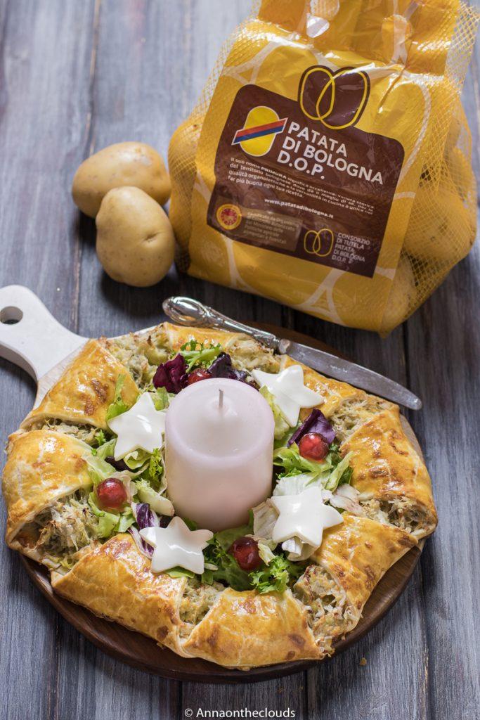 Ghirlanda di sfoglia e patate – centrotavola festivo