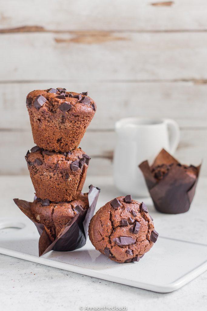 Muffin al doppio cioccolato vegani