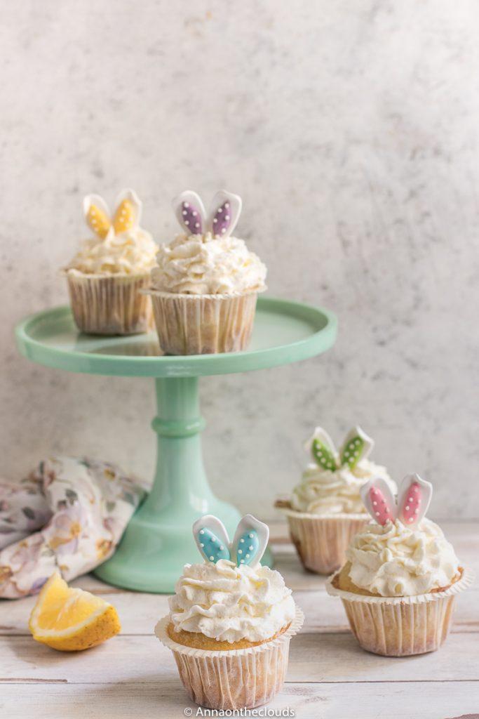 Cupcake di Pasqua (limone e cioccolato bianco)