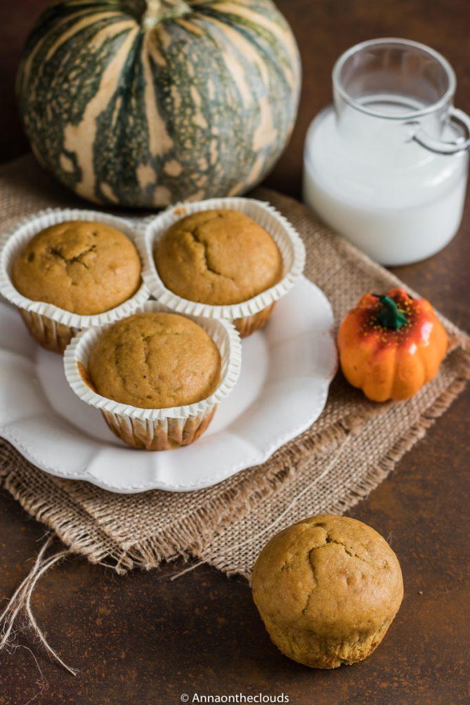Muffin alla zucca – senza burro