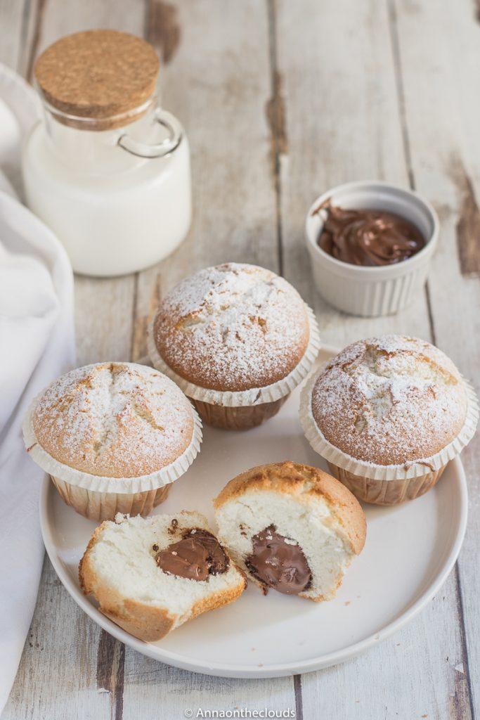 Muffin con il cuore di Nutella – senza burro