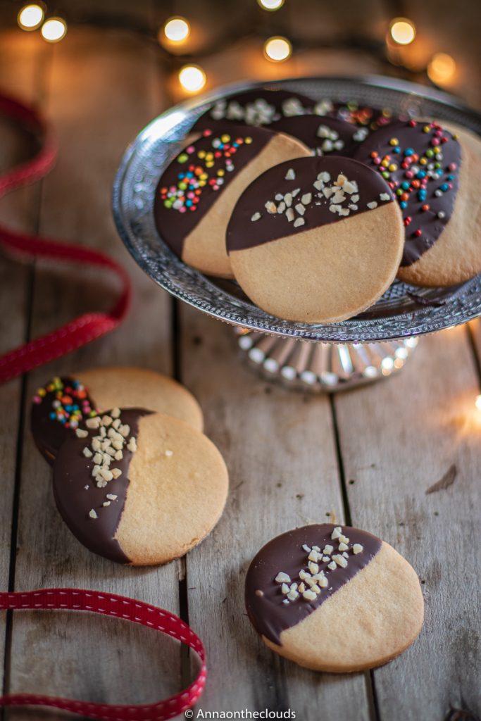 Biscotti al sablè al cioccolato