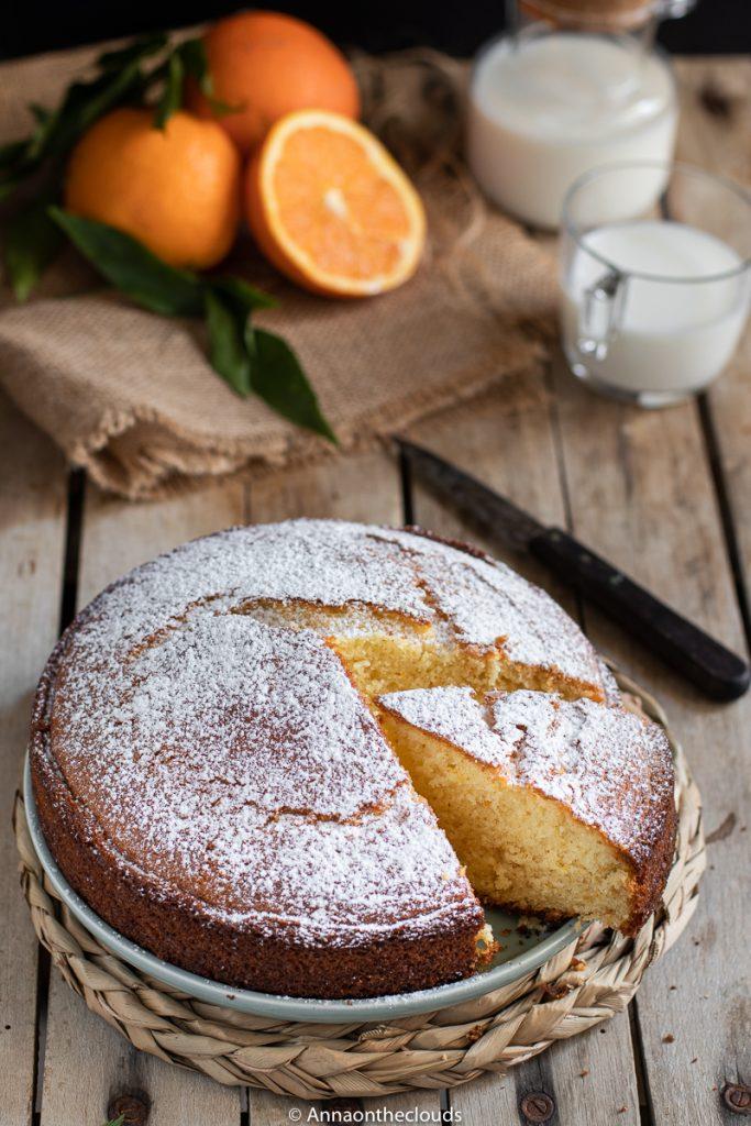 Torta soffice all'arancia senza burro
