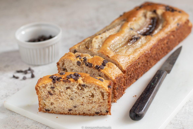 Banana Bread con cioccolato: ricetta senza uova