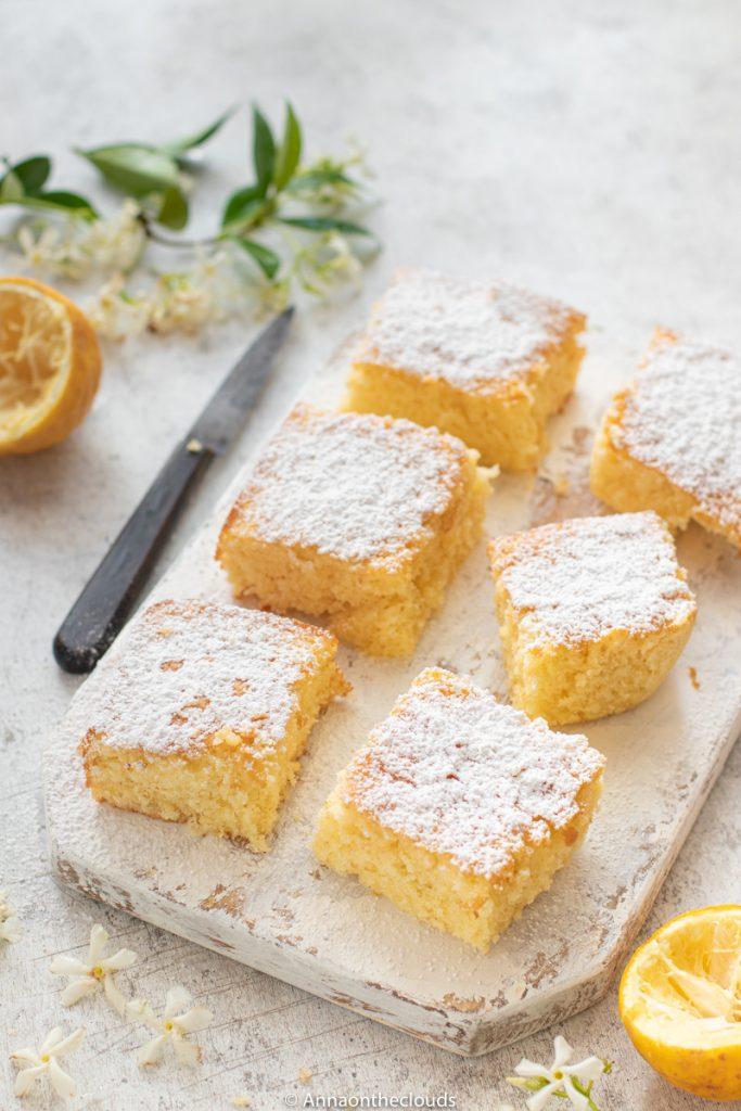 Brownies al limone: ricetta facile e veloce