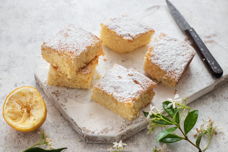 Brownies al limone senza burro