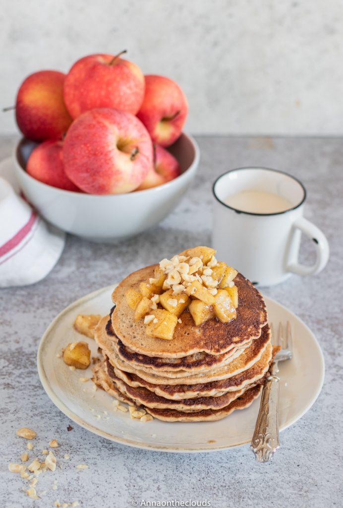 Pancake alle mele (light e vegan)